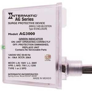 Intermatic AG3000 AG Series 120/240 VAC 4X Enclosure Type 1 or Type 2 SPD Whole House Surge Protective Device