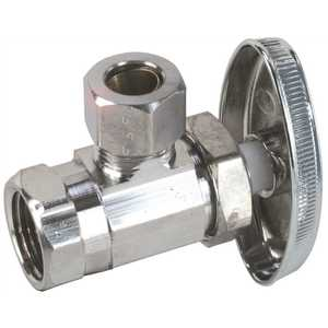 Durapro LA 2CP LF Angle Stop 3/8 in. IPS x 3/8 in. OD Comp Chrome Lead-Free Chrome Plated