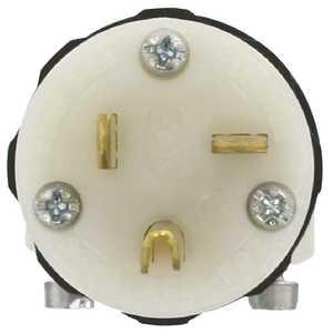 Leviton 8315-C 20-Amp 125-Volt Hospital Grade Straight Blade Plug, Black/White