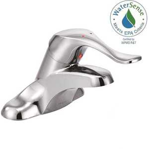Moen 8420 Innovations 4 in. Centerset Single Handle Low-Arc Bathroom Faucet in Polished Chrome