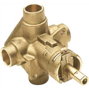 Moen 8370HD Brass Rough-In Posi-Temp Pressure-Balancing Cycling Tub and Shower Valve - 1/2 in. CC Connection