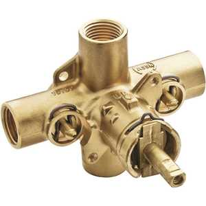 Moen 8372HD 1/2 in. IPS Connections Commercial Posi-Temp Rough-In Shower Valve with Integral Stops Brass