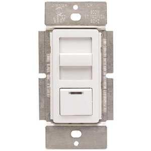 Leviton IPF01-1LZ 1.5-Amp Decora Illumatech Single Pole Step Fan Speed Control With Preset Button, White/ Ivory/ Light Almond