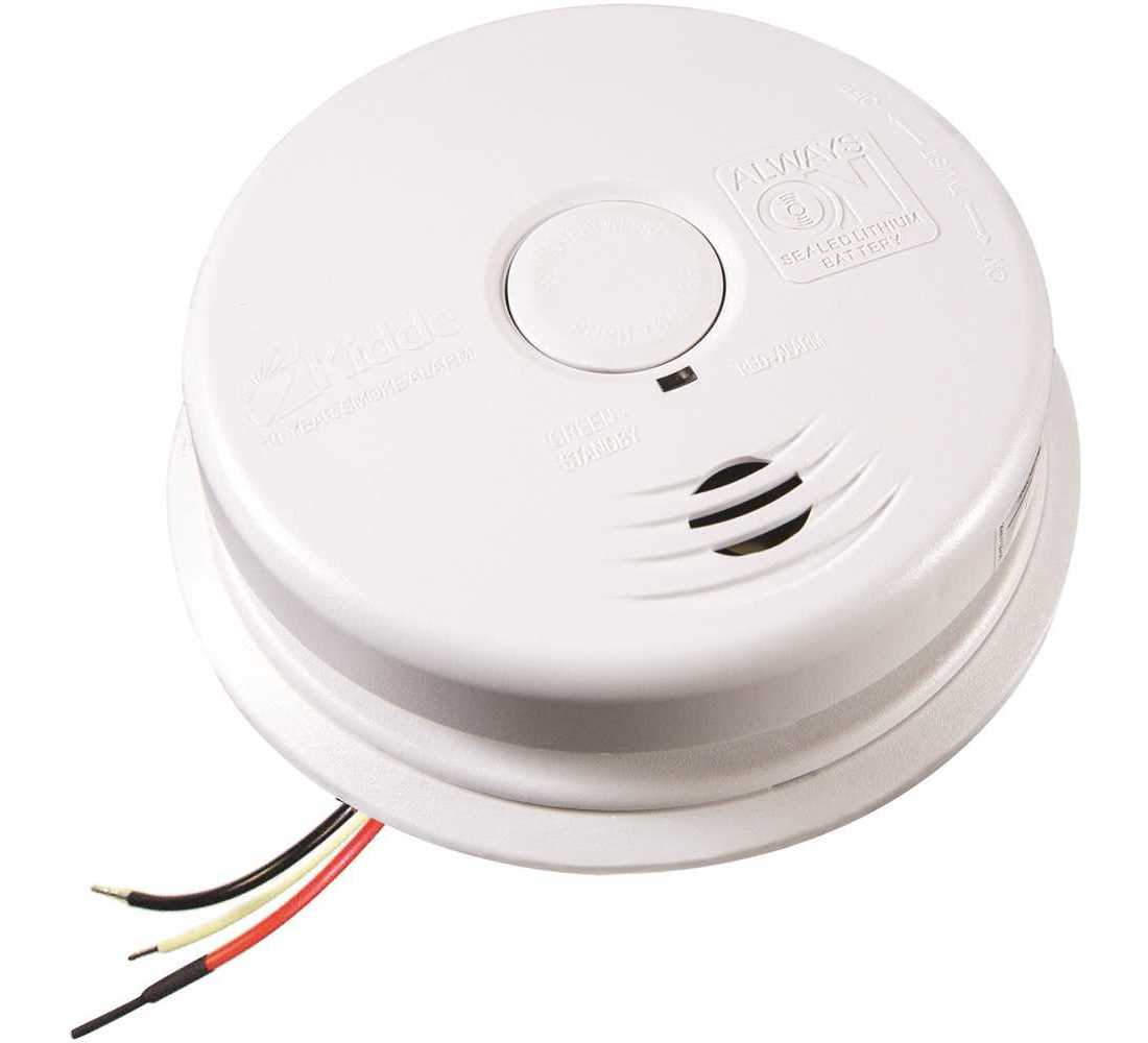 Kidde 21010407 A Worry Free Hardwire Smoke Detector With 10 Year