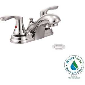 Cleveland Faucet Group 40225 Cornerstone 4 in. Centerset 2-Handle Bathroom Faucet with Pop-Up Assembly in Chrome