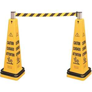 Rubbermaid RCP628700YW 39.75 in. Yellow Cone Barricade System