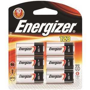 EVEREADY BATTERY EL123BP-6 3-Volt 123 Energizer Lithium Battery