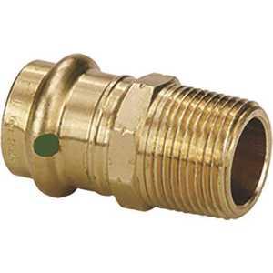 Viega 79260 1-1/4 in. x 1-1/4 in. Zero Lead Bronze Adapter