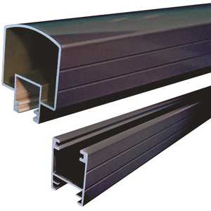 Peak Aluminum Railing 50111 Aluminum Railing 6 ft. Black Aluminum Hand and Base Rail