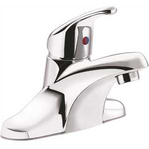 Cornerstone 4 in. Centerset 1-Handle Bathroom Faucet Less Waste in Chrome