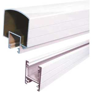 Peak Aluminum Railing 50100 Aluminum Railing 4 ft. White Aluminum Hand and Base Rail