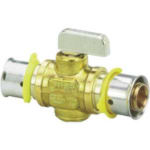 Viega 94521 PureFlow 1/2 in. x 1/2 in. Zero Lead Brass Press Ball Valve