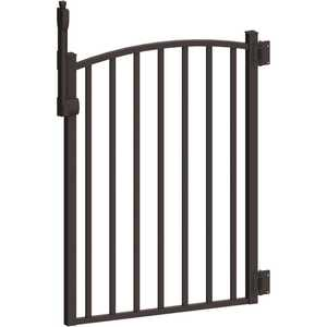 PEAK 56163 Aquatine 3 ft. x 4 ft. Black Aluminum Fence Pool Gate