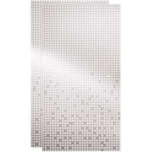 Delta SDGT060-CLZ-R 29-1/32 in. x 55-1/2 in. x 1/4 in. Frameless Sliding Bathtub Door Glass Panels in Mozaic ( for 50-60 in. Doors)