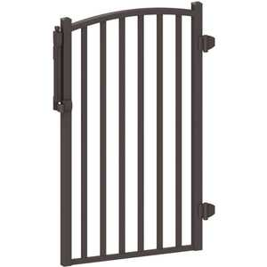 PEAK 57163 AquatinePLUS 3 ft. x 4 ft. Black Aluminum Fence Pool Gate