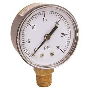 Proplus 521018 0 to 30 psi Water Pressure Gauge, 2 in. Face