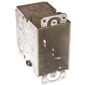 RACO 590 3 in. x 2 in. Switch Box Gangable 3-1/2 in. Deep with Nine 1/2 in. KO's, Plaster Ears