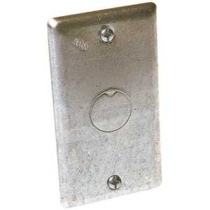 RACO 861 1-Gang Handy Box Cover with 1/2 in. Knockout