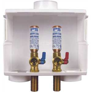 Water-Tite 85714 DU-All 1/2 in. PEX Dual-Drain Washing Machine Outlet Box with Hammer Arrestors