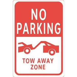 HY-KO PRODUCTS HW-27 12 in. x 18 in. Aluminum No Parking Tow Away Zone