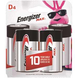 Energizer E95BP-4 MAX Alkaline D Battery