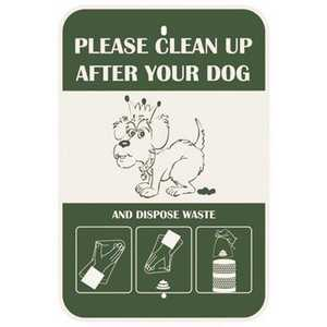 CROWN PP-SIGN 12 in. x 18 in. Steel Pet Waste Station Replacement Sign
