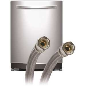 Fluidmaster 6W60 3/8 in. Compression x 3/8 in. Compression x 60 in. L Braided Stainless Steel Dishwasher Connector with Elbow Included