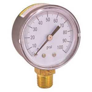 Boshart Industries PG-100NL PRESSURE GAUGE 0 TO 100 PSI, 2 IN. FACE, LEAD FREE