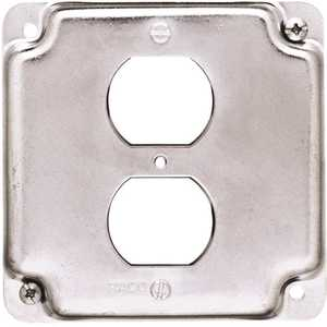 RACO 902C 4 in. Square Exposed Work Cover for Duplex Receptacle
