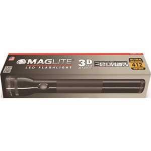 Maglite ST3D015 3D LED Flashlight Uses 3D Batteries Black