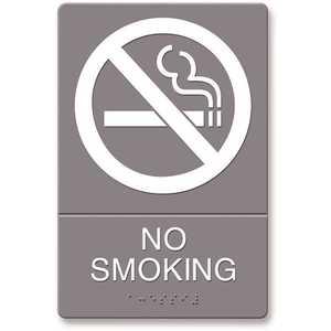 Headline USS4813 Plastic No Smoking ADA Sign