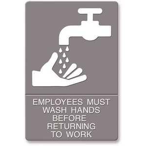 Headline USS4726 ADA Plastic Wash Hands Sign