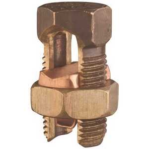 THOMAS & BETTS 30H Split Bolt Connector, Equal Main and Tap Range 4/0 Strand to 2 Solid, Conductor Minimum Tap with 1 Maximum Main 6 Solid