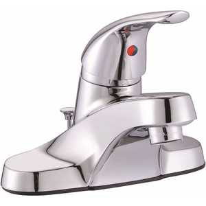 Premier 67713W-8101 Bayview 4 in. Centerset Single-Handle Bathroom Faucet with Pop-Up Assembly in Chrome