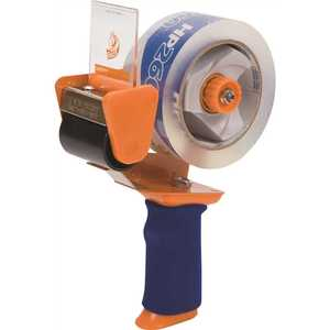DUCK DUC1078566 BLADESAFE ANTIMICROBIAL TAPE GUN WITH TAPE AND 3-INCH CORE, METAL / PLASTIC, ORANGE