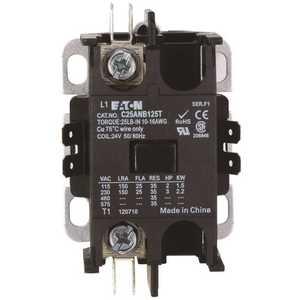 Eaton C25ANB140T Contactor Single Pole 40 Amp, 24-Volt Coil