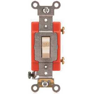 Leviton A1221-2I 20 Amp, 120-Volt to 277-Volt, Standard Single-Pole Antimicrobial Treated Toggle Light Switch, Ivory