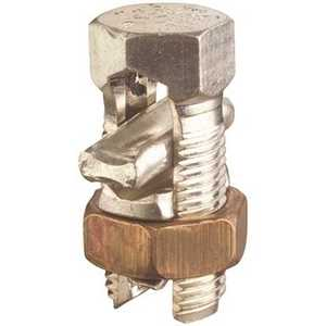 THOMAS & BETTS APS06 Aluminum and Copper Wire Split Bolt Connector for #2-9 Stranded Aluminum Stainless Look