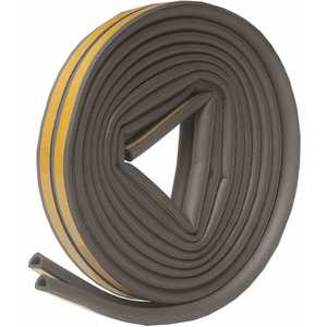 Frost King V25GA 5/16 in. x 1/4 in. x 17 ft. Grey D-Center EPDM Medium Gap Weatherseal Tape