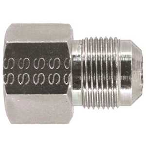 Watts 90-3042 Stainless Steel Gas Connector Adapter 3/4 in. FNPT x 5/8 Male Flare