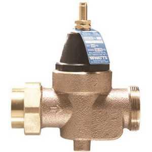 Watts 0009478 In-Line Water Pressure Reducing Valve, 3/4 in. Female, Brass, Lead Free