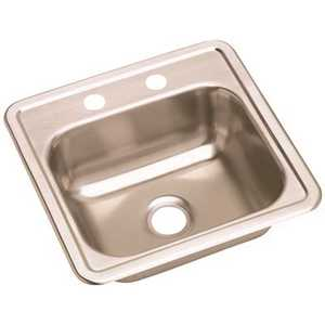 Elkay K115152 Dayton Drop-In Stainless Steel 15 in. 2-Hole Single Bowl Bar Sink