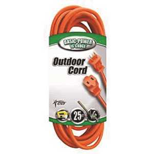 Southwire 22078803 25 ft. 16/2 SJTW Outdoor Light-Duty Extension Cord, Orange
