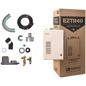 Noritz EZTR40-NG 40 Gal. Tank Replacement Natural Gas High Efficiency Indoor Tankless Water Heater w/ 12-Year Warranty and Wi-Fi Capable