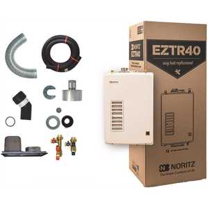 Noritz EZTR40-LP 40 Gal. Tank Replacement Liquid Propane Hi-Efficiency Indoor Tankless Water Heater w/ 12-Year Warranty and WiFi Capable