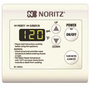 Noritz RC-7651M Tankless Water Heater Remote Control