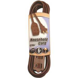 Southwire 94018907 6 ft. 16/2 Brown Household Cube Tap Extension Cord