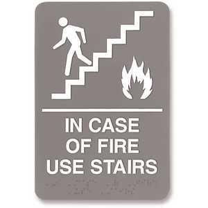 Headline USS5400 Plastic Fire Use Stairs ADA Sign