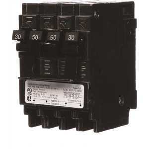 Siemens Q23050CT2 Quadplex One Outer 50 Amp Double-Pole and One Inner 30 Amp Double-Pole-Circuit Breaker