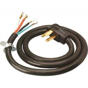 Southwire 9046SW8808 6 ft. 6/2-8/2 Round Range Cord Black